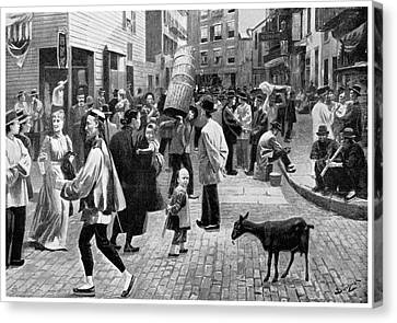 New York Chinatown, 1896 Canvas Print