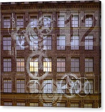New York City - Wall Clock Canvas Print by Richard Reeve