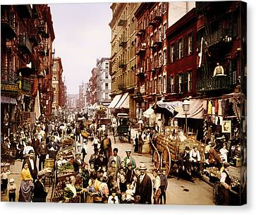 New York City 1900 Canvas Print by Mountain Dreams