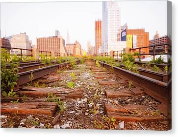 New York City - Abandoned Railroad Tracks Canvas Print by Vivienne Gucwa
