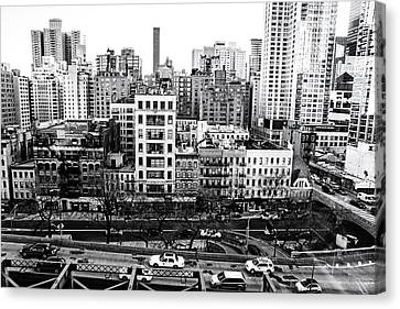 Rooftop Canvas Print - New York City - Above It All by Vivienne Gucwa