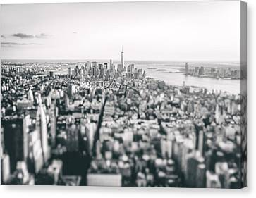 New York City - Above The Rooftops Canvas Print by Vivienne Gucwa