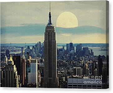 Sky Line Canvas Print - New York City by Celestial Images