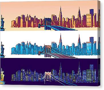 New York City - All Day Canvas Print by Sam Shacked