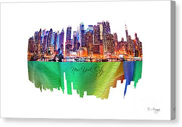 New York City Art Collection No. 200 Canvas Print by Victor Arriaga