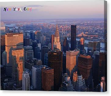 New York City At Dusk Canvas Print by Emmy Marie Vickers
