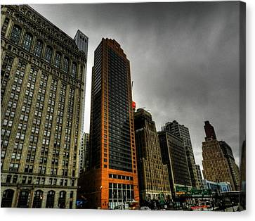 River Canvas Print - New York City - Battery Park 004 by Lance Vaughn