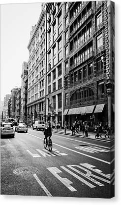 New York City Bicycle Ride - Soho Canvas Print by Vivienne Gucwa