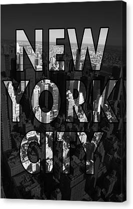New York City - Black Canvas Print by Nicklas Gustafsson