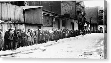 New York City Bread Line Canvas Print by Granger
