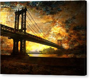 New York City Bridge Canvas Print by Bruce Rolff