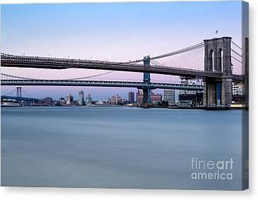 New York City Bridges Bmw Canvas Print by Susan Candelario