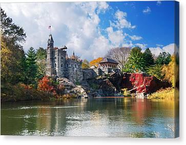 New York City Central Park Belvedere Castle Canvas Print