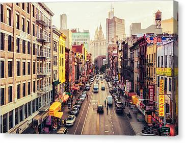 New York City - Chinatown Street Canvas Print by Vivienne Gucwa