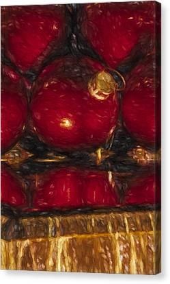 New York City Christmas Ornaments Canvas Print by Susan Candelario