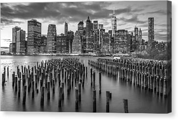 New York City Cityscape Nyc Bw Canvas Print