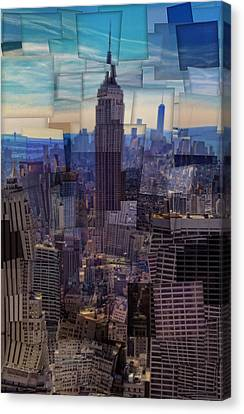 New York City Cubism Canvas Print by Dan Sproul