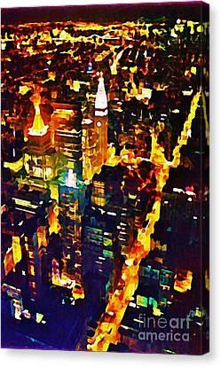 New York City From The Empire State Building Canvas Print by John Malone JSM Fine Arts