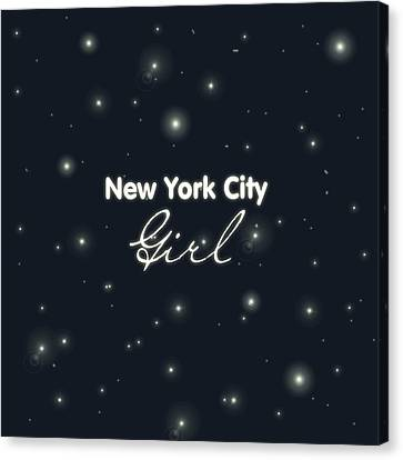 New York City Girl Canvas Print by Pati Photography