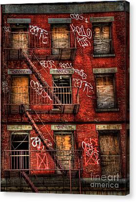 New York City Graffiti Building Canvas Print by Amy Cicconi
