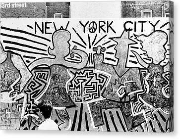 New York City Graffiti Canvas Print