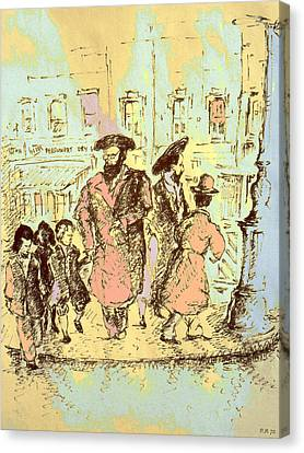 New York City Jews - Fine Art Canvas Print