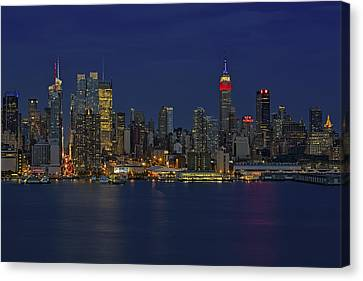 New York City Lights Canvas Print by Susan Candelario