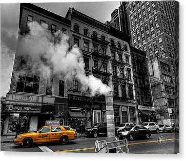 New York City - Lower Manhattan 006 Canvas Print by Lance Vaughn