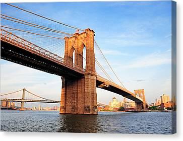 New York City Manhattan Brooklyn Bridge Canvas Print