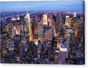 New York City Manhattan Times Square Night Canvas Print