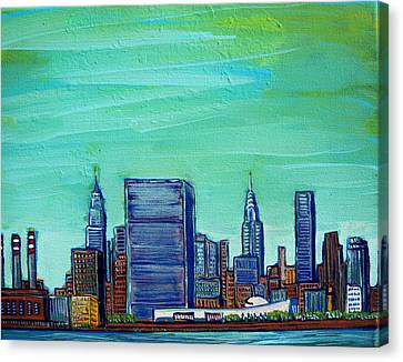 New York City Midtown Canvas Print by Mitchell McClenney