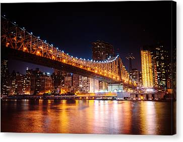 New York City - Night Lights Canvas Print by Vivienne Gucwa