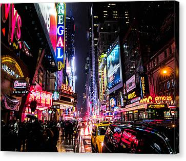New York City Night Canvas Print by Nicklas Gustafsson