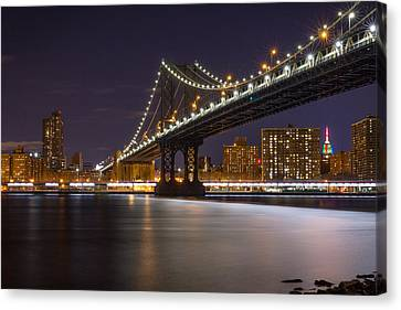 New York City Night View Canvas Print
