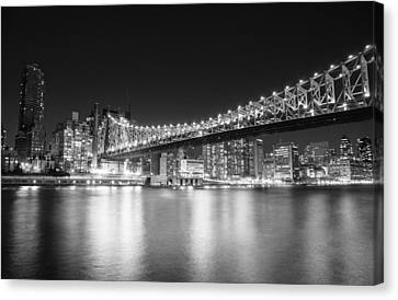New York City - Queensboro Bridge At Night Canvas Print by Vivienne Gucwa