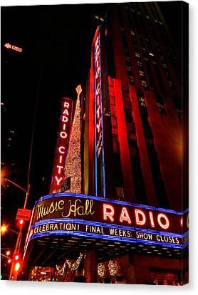 New York City - Radio City Music Hall 001 Canvas Print by Lance Vaughn