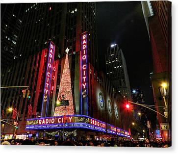 New York City - Radio City Music Hall 002 Canvas Print by Lance Vaughn