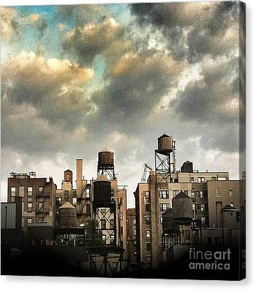New York City Rooftops Canvas Print by Amy Cicconi