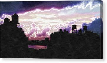 New York City Rooftops Canvas Print by Tony Rubino