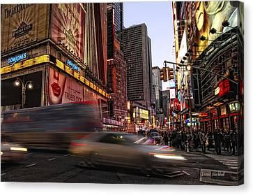 New York City Rush Canvas Print by Donna Blackhall