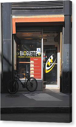 New York Storefront 2 Canvas Print by Frank Romeo