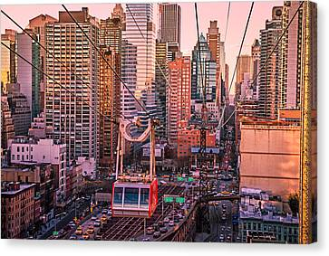 New York City - Skycrapers And The Roosevelt Island Tram Canvas Print