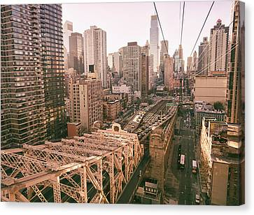 Nyc Rooftop Canvas Print - New York City Skyline - Above The City by Vivienne Gucwa