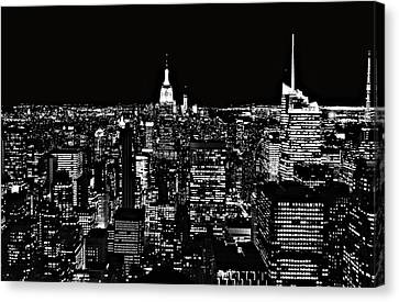 New York City Skyline At Night Canvas Print by Dan Sproul