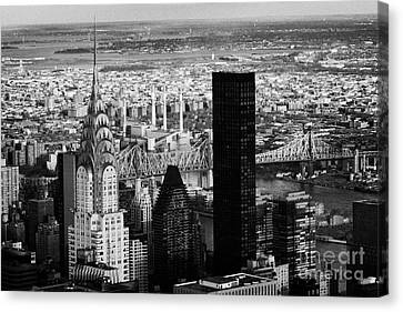 New York City Skyline Chrysler Building Trump Tower Queens Canvas Print by Joe Fox