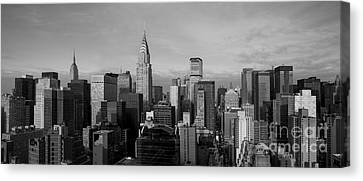 New York City Skyline Canvas Print - New York City Skyline by Diane Diederich