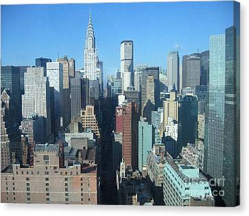 Canvas Print featuring the photograph New York City Skyline by Dora Sofia Caputo Photographic Art and Design