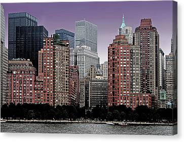 Canvas Print featuring the photograph New York City Skyline Image by Christopher McKenzie