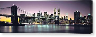 New York City Skyline Canvas Print - New York City Skyline by Jon Neidert