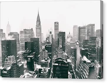 New York City - Snow-covered Skyline Canvas Print